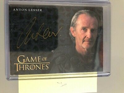 2016 Game of Thrones ANTON LESSER as QYBURN Gold Autograph Card - A