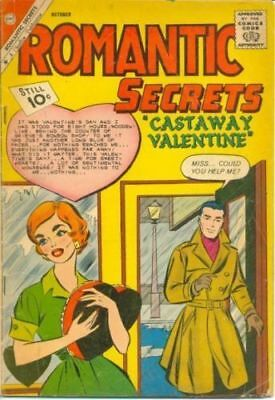 Romantic Secrets 35 + Free Cd Or Dvd In Card Charlton American 1955 Series Comic