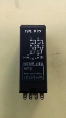 OMRON  Type MY2V timer relay