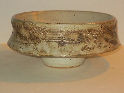 Non-Stamped Warren Mackenzie Drop Rim Pottery Bowl,  From A Private Collection
