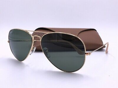 14fee0e028 Ray Ban RB3025 001 58 AVIATOR CLASSIC POLARIZED Green Classic G15 AUTHENTIC  62mm