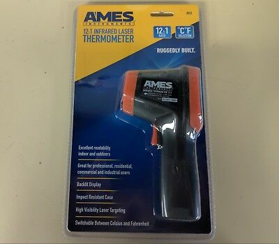 Ames IR12 Infrared Laser Thermometer 12:1 Distance to Spot 50 - 500 Degree New
