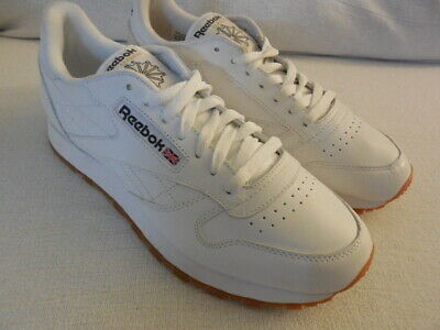 4e0e3a086ee Reebok Classic Leather CL White Gum Shoes Sneakers 49797 MEN S 9 (DISPLAY)