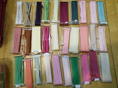 Lot 30 YLI Silk Ribbon - various colors & lengths  - 4mm - embroidery