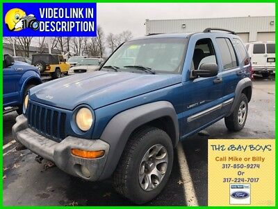 2003 Jeep Liberty Sport USED 03 Jeep Liberty Sport Used 3.7L V6 Auto RWD SUV Blue Small Gray