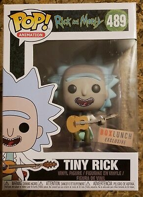 Funko Pop Animation Rick and Morty box lunch exclusive Tiny Rick error defect