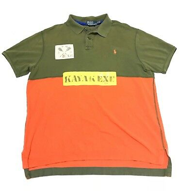 721b13e08b9c6 Polo Ralph Lauren Spell Rugby XXL expedition kayak equestrian vintage 1992  CP