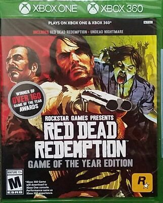 Red Dead Redemption Game of the Year Edition - Xbox One and Xbox 360 New!