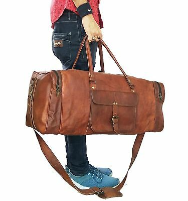 64da7bebc2d0 Mens Vintage New Leather Bag Duffel Travel Men Gym Luggage Genuine  Overnight -