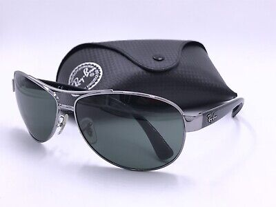 6638497f42 Ray Ban Sunglasses RB3386 004 71 Gunmetal  Black   Green Classic lens  AUTHENTIC