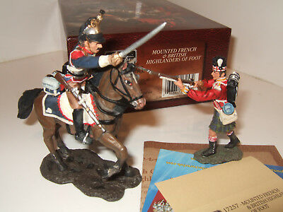 Britains 17257 Mounted French Cuirassier Versus 92nd Highlander of foot in 54mm