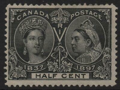 CANADA: 1897 Sg 121 Jubilee ½c Black Average Mounted Mint - Cat £75 (22236)