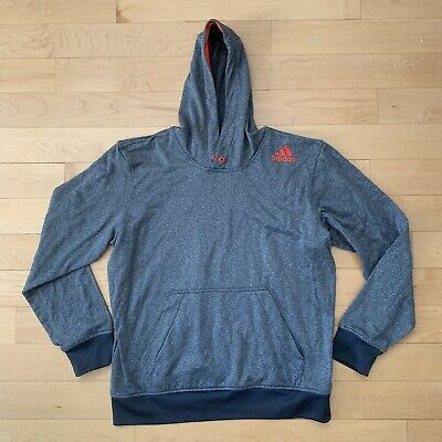 af6a5138faad Adidas Ultimate Hoodie Pullover Gray Red Men s Size Large Sweatshirt Track