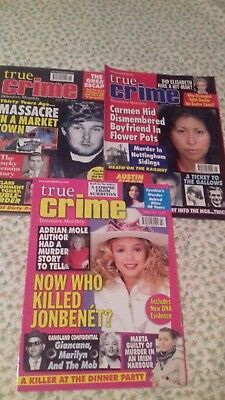 Three True Crime Mags Jan, March, Aug, 2017