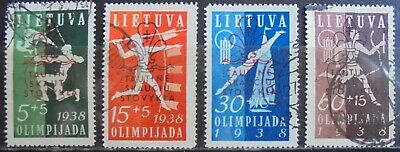 LITHUANIA 1938 Scouts & Guides National Fund Complete Set of 4 Used