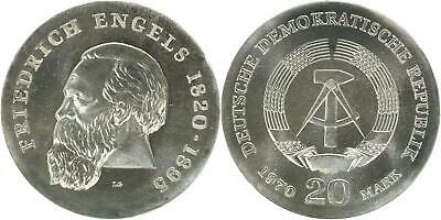 DDR 20 Mark 1970 (A) - Friedrich Engels - Jaeger 1529 - f.Stgl.