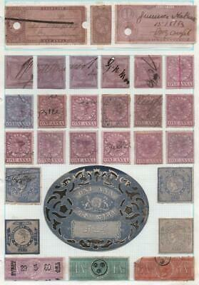 INDIA: Queen Victoria Revenues - Ex-Old Time Collection - Album Page (22124)