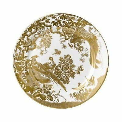 "New Royal Crown Derby 2nd Quality Gold Aves 8"" Salad Side Plate"