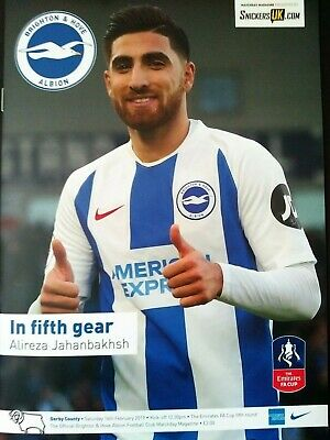 Brighton & Hove Albion v Derby County 16/2/2019 FA Cup 5th Round MINT condition