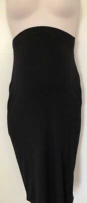 George maternity midi black size 8 over bump skirt stretchy pencil wiggle