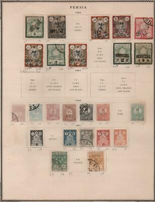MIDDLE EAST: 1885-1891 Examples - Ex-Old Time Collection - Album Page (22296)