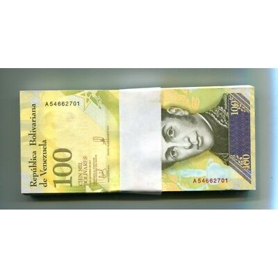 Venezuela 100000 Bolivares 13Dec 2017(2018) P-New Unc Bundle 100 Pcs