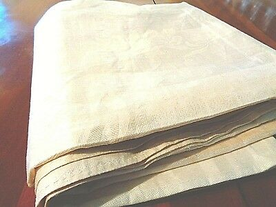"""Antique Irish Linen Damask Table cloth  Never used  70"""" x 70"""""""