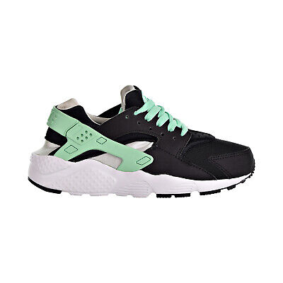 94ebe8d21f Nike Huarache Run Big Kids' Shoes Black/Green Glow/Pure Platinum 654280-