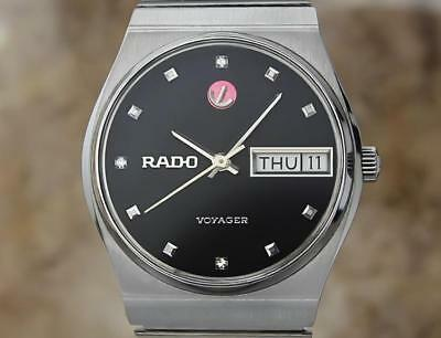 Rado Voyager Vintage 1970s Stainless 31mm Unisex Automatic Swiss Watch EX4