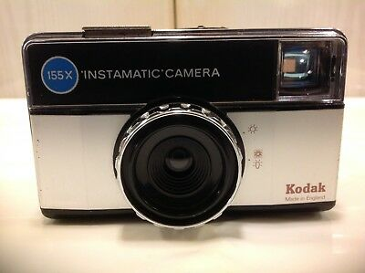 Vintage Kodak 155X Instamatic Camera With Case Working, All In Mint Condition.