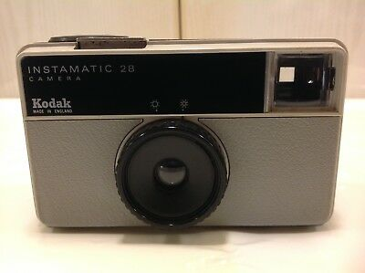 Vintage Kodak Instamatic 28 Camera With Case Working, All In Mint Condition.