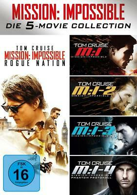 Mission: Impossible 1 - 5 - 5-Movie-Set - Collection - Tom Cruise - Box