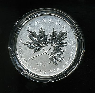Canada 2011 $10 1/2 oz Fine Silver Coin - Maple Leaf Forever w/ Box and COA
