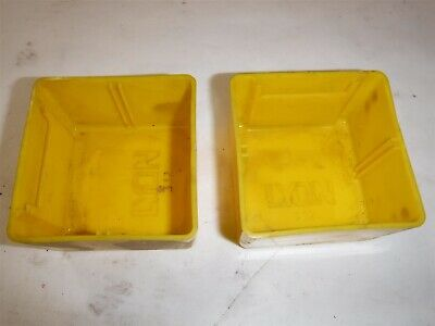 "USED LOT 70 LYON 3"" x 3"" x 2"" Yellow Plastic Box Bin Drawer 332 B"