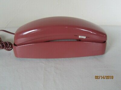 Vintage ATT Salmon Colored Trimline Push Button Dial Telephone - Tested!