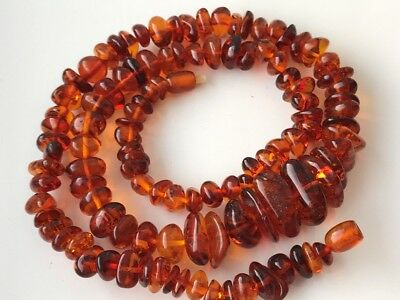 Natural Antique Baltic Vintage Amber OLD BUTTERSCOTCH  BEADS Necklace 64 gr!