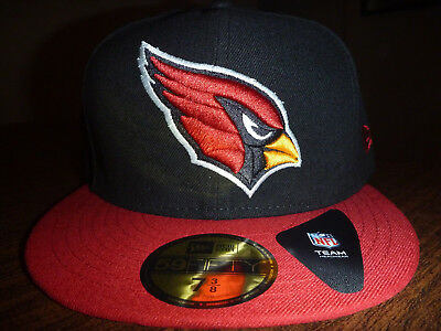 Arizona Cardinals New Era 59Fifty Nfl Black Team  red Bill Fitted Hat Size 7  3 6ce7241457ab
