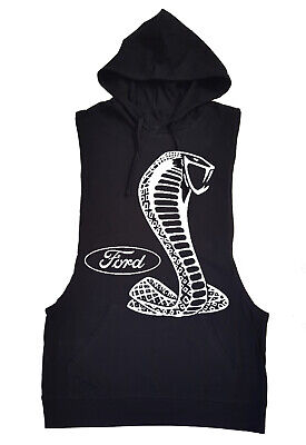 Ford Shelby Cobra Black Tank Top Hoodie Classic Cars Racing Mustang Muscle GT350