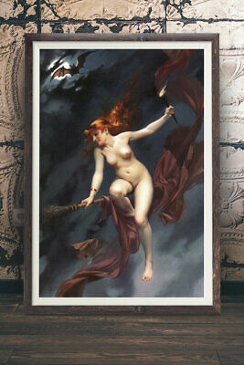Luis Falero - The Witches Sabbath - Witch Art Decor, Wicca, Wiccan, Witchy