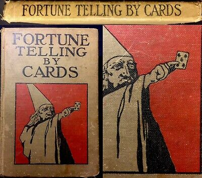 Divination Fortune Telling Antique Playing Cards Cartomancy Historic Old Book