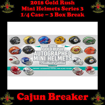 New England Patriots *1/4 Case* 3Box Live Break - 2018 Gold Rush Mini Helmets