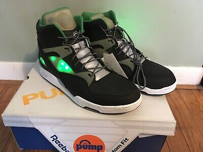 3497c9ae8bc7 Rare Reebok Pump Omni Zone LT Solebox Green Black Light Up Size 13  Authenticated