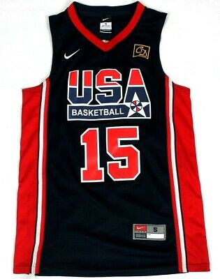 ad8fe2356cb4  7696 Nike Usa Basketball Team Magic Johnson Sewn Jersey Mens Small Dream  Team
