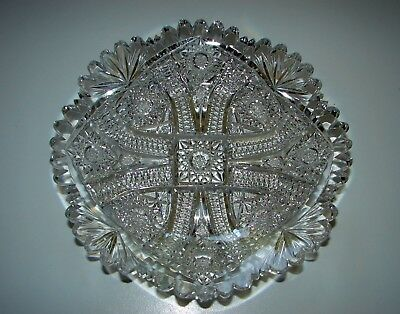 """Rare COLUMBIA by BLACKMER ABP American Brilliant Cut Glass Crystal PLATE 7"""""""