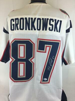 e833b1bd6 Rob Gronkowski Signed Autographed Jersey Beckett Witness Football Autograph  Auto