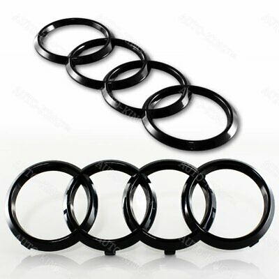 Audi Glossy Black Grill Front +Rear A1 A3 A4 S4 A5 S5 A6 S6 SQ7 Badge Emblem Set