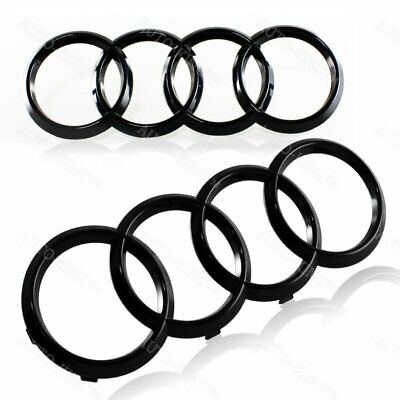 For Audi Rings 2pcs Black Frontrear A3 A4 S4 A5 S5 A6 S6 Sq7 Tt