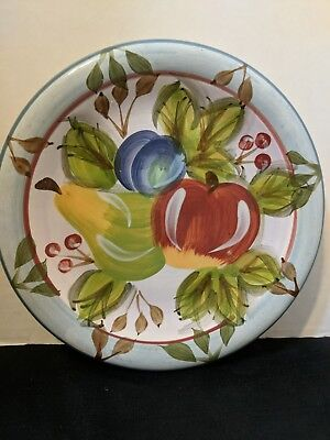"Heritage Mint ""Black Forest Fruits""  8"" Salad Plate Apple, Plum, Pear & Cherries"
