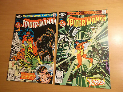 Marvel: Spider-Woman #37 & 38, X-Men/1St Appearance Of Siryn, 1981, Nm - Nm-!!!