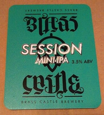Beer pump badge clip BRASS CASTLE brewery SESSION MINI IPA ale pumpclip front